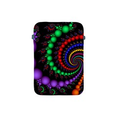 Fractal Background With High Quality Spiral Of Balls On Black Apple Ipad Mini Protective Soft Cases by Amaryn4rt