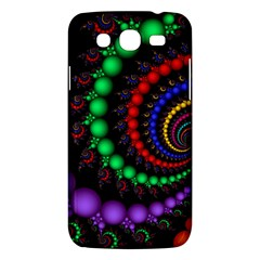 Fractal Background With High Quality Spiral Of Balls On Black Samsung Galaxy Mega 5 8 I9152 Hardshell Case  by Amaryn4rt