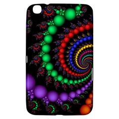 Fractal Background With High Quality Spiral Of Balls On Black Samsung Galaxy Tab 3 (8 ) T3100 Hardshell Case  by Amaryn4rt