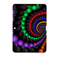 Fractal Background With High Quality Spiral Of Balls On Black Samsung Galaxy Tab 2 (10 1 ) P5100 Hardshell Case  by Amaryn4rt