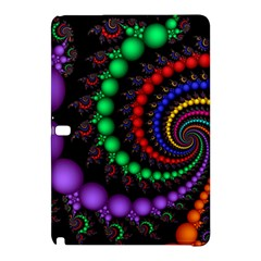 Fractal Background With High Quality Spiral Of Balls On Black Samsung Galaxy Tab Pro 12 2 Hardshell Case by Amaryn4rt