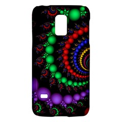 Fractal Background With High Quality Spiral Of Balls On Black Galaxy S5 Mini by Amaryn4rt