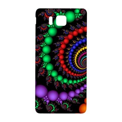 Fractal Background With High Quality Spiral Of Balls On Black Samsung Galaxy Alpha Hardshell Back Case by Amaryn4rt
