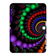 Fractal Background With High Quality Spiral Of Balls On Black Samsung Galaxy Tab 4 (10 1 ) Hardshell Case  by Amaryn4rt