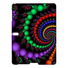 Fractal Background With High Quality Spiral Of Balls On Black Samsung Galaxy Tab S (10 5 ) Hardshell Case  by Amaryn4rt