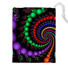 Fractal Background With High Quality Spiral Of Balls On Black Drawstring Pouches (xxl) by Amaryn4rt