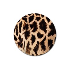 Yellow And Brown Spots On Giraffe Skin Texture Magnet 3  (round) by Amaryn4rt