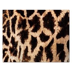 Yellow And Brown Spots On Giraffe Skin Texture Rectangular Jigsaw Puzzl by Amaryn4rt