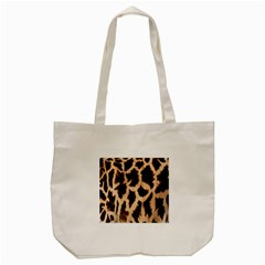 Yellow And Brown Spots On Giraffe Skin Texture Tote Bag (cream) by Amaryn4rt