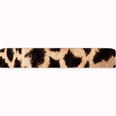 Yellow And Brown Spots On Giraffe Skin Texture Small Bar Mats by Amaryn4rt