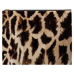 Yellow And Brown Spots On Giraffe Skin Texture Cosmetic Bag (xxxl)  by Amaryn4rt