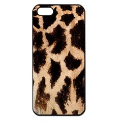 Yellow And Brown Spots On Giraffe Skin Texture Apple Iphone 5 Seamless Case (black) by Amaryn4rt