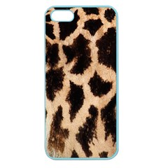 Yellow And Brown Spots On Giraffe Skin Texture Apple Seamless Iphone 5 Case (color) by Amaryn4rt