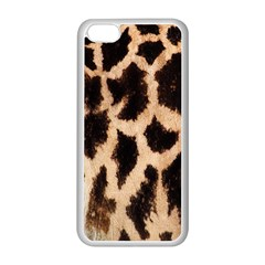 Yellow And Brown Spots On Giraffe Skin Texture Apple Iphone 5c Seamless Case (white) by Amaryn4rt