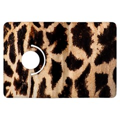 Yellow And Brown Spots On Giraffe Skin Texture Kindle Fire Hdx Flip 360 Case by Amaryn4rt