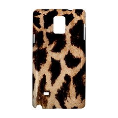 Yellow And Brown Spots On Giraffe Skin Texture Samsung Galaxy Note 4 Hardshell Case by Amaryn4rt