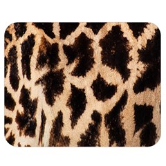 Yellow And Brown Spots On Giraffe Skin Texture Double Sided Flano Blanket (medium)  by Amaryn4rt
