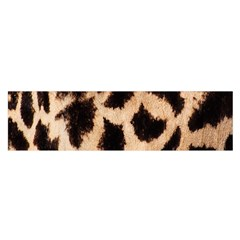 Yellow And Brown Spots On Giraffe Skin Texture Satin Scarf (oblong) by Amaryn4rt