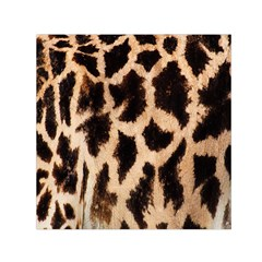 Yellow And Brown Spots On Giraffe Skin Texture Small Satin Scarf (square) by Amaryn4rt