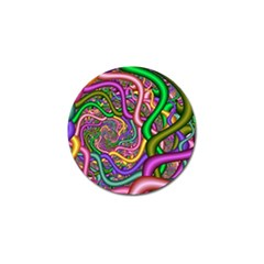 Fractal Background With Tangled Color Hoses Golf Ball Marker (4 Pack) by Amaryn4rt