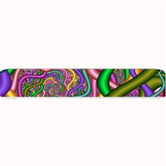 Fractal Background With Tangled Color Hoses Small Bar Mats
