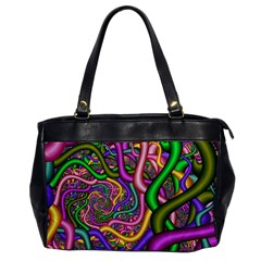 Fractal Background With Tangled Color Hoses Office Handbags by Amaryn4rt