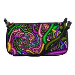 Fractal Background With Tangled Color Hoses Shoulder Clutch Bags by Amaryn4rt