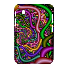 Fractal Background With Tangled Color Hoses Samsung Galaxy Tab 2 (7 ) P3100 Hardshell Case  by Amaryn4rt