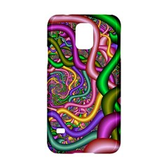 Fractal Background With Tangled Color Hoses Samsung Galaxy S5 Hardshell Case  by Amaryn4rt