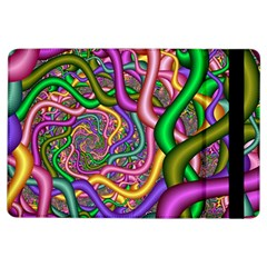 Fractal Background With Tangled Color Hoses Ipad Air Flip by Amaryn4rt