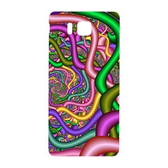 Fractal Background With Tangled Color Hoses Samsung Galaxy Alpha Hardshell Back Case by Amaryn4rt