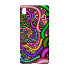 Fractal Background With Tangled Color Hoses Sony Xperia Z3+ by Amaryn4rt