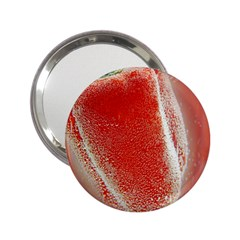 Red Pepper And Bubbles 2 25  Handbag Mirrors by Amaryn4rt