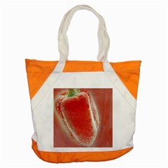 Red Pepper And Bubbles Accent Tote Bag by Amaryn4rt