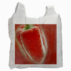 Red Pepper And Bubbles Recycle Bag (two Side)  by Amaryn4rt