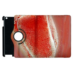 Red Pepper And Bubbles Apple Ipad 3/4 Flip 360 Case by Amaryn4rt