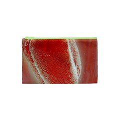 Red Pepper And Bubbles Cosmetic Bag (xs) by Amaryn4rt
