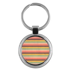 Abstract Vintage Lines Background Pattern Key Chains (round)  by Amaryn4rt