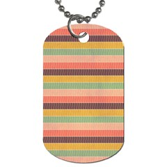 Abstract Vintage Lines Background Pattern Dog Tag (two Sides) by Amaryn4rt