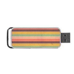 Abstract Vintage Lines Background Pattern Portable Usb Flash (one Side) by Amaryn4rt