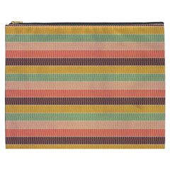 Abstract Vintage Lines Background Pattern Cosmetic Bag (xxxl)  by Amaryn4rt