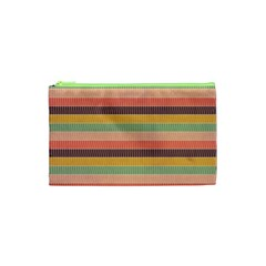 Abstract Vintage Lines Background Pattern Cosmetic Bag (xs) by Amaryn4rt