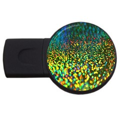 Construction Paper Iridescent Usb Flash Drive Round (4 Gb) by Amaryn4rt
