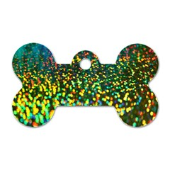 Construction Paper Iridescent Dog Tag Bone (two Sides) by Amaryn4rt