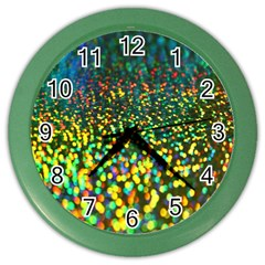 Construction Paper Iridescent Color Wall Clocks by Amaryn4rt