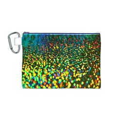 Construction Paper Iridescent Canvas Cosmetic Bag (m) by Amaryn4rt
