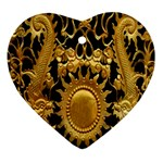Golden Sun Ornament (Heart) Front