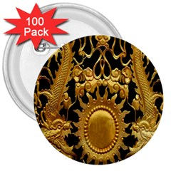 Golden Sun 3  Buttons (100 Pack)  by Amaryn4rt