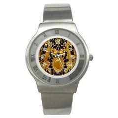 Golden Sun Stainless Steel Watch by Amaryn4rt
