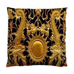 Golden Sun Standard Cushion Case (one Side) by Amaryn4rt